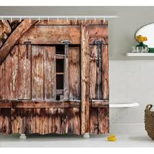 Shower Curtains Rustic Barn Door Shower Curtain Wayfair