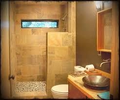simple bathroom design ideas with brown wooden bathroom vanity
