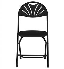 Folding Chairs Fanback Folding Chair Black