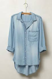 chambray blouse amabel chambray shirt anthropologie