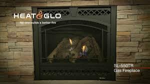heat u0026 glo slimline sl 550tr gas fireplace video youtube