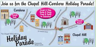 thanksgiving day parade map chapel hill carrboro holiday parade