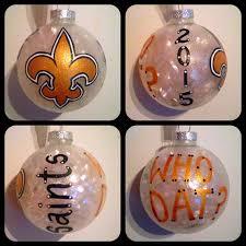 new orleans saints ornament painted saints