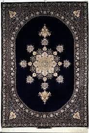 Rugs Navy Blue Isfahan Hekmat Nejad Royal Navy Color 6x8 Ek5 220 X 151 Carpets