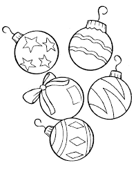 ornaments coloring pages to print free printable