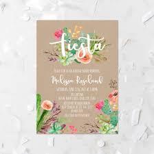 fiesta bridal shower invitation printable succulent bridal shower