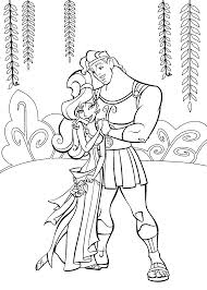 hercules legendary hero coloring pages womanmate