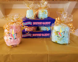 cotton candy party favor 16 unicorn party cotton candy favors unicorn birthday