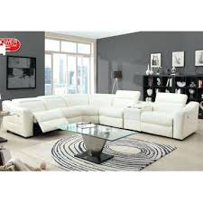 White Reclining Sofa Showy White Leather Reclining Sofa For House Design Gradfly Co