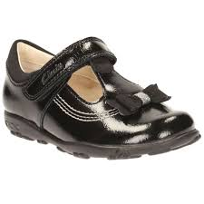 clarks ella ruby girls black patent first shoes charles clinkard