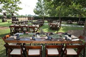 Wooden Chairs For Rent Tables A Rustic Affair