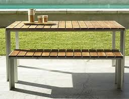 Contemporary Outdoor Dining Table From Design Within Reach The - Modern outdoor sofa sets