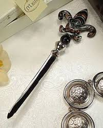 letter opener favors murano deco collection letter opener teardrop shaped glass