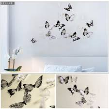 online buy wholesale 3d butterfly wall decor from china 3d 18pcs lot creative 3d butterfly stickers pvc removable wall decor art diy bedroom living room