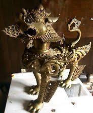 lion foo dog brass foo dog antique figurines statues ebay