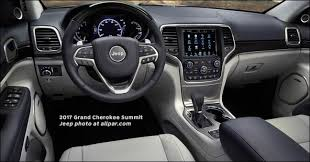 Jeep Cherokee Sport Interior 2017 Jeep Grand Cherokee Trailhawk And Grand Cherokee Summit