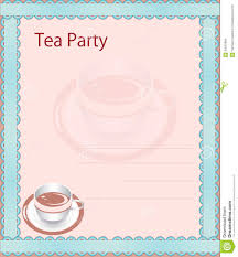 Tea Party Invitation Card Tea Party Invitation Royalty Free Stock Image Image 34501966