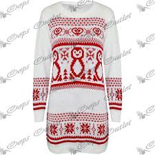 womens ladies snowman xmas christmas tree knitted dress sweater