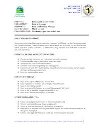catering server resume sample server resume sample resume