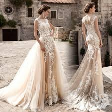 wedding dress vintage robe de mariage new vintage wedding dress 2017 sheer neck cap
