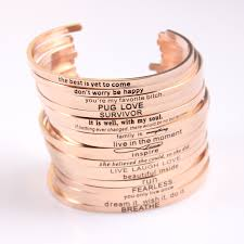 rose gold stainless steel bracelet images 2017 new rose gold stainless steel engraved positive inspirational jpg