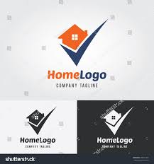 home logo template check mark logo stock vector 408341926