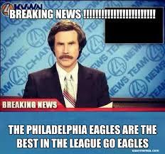 Philadelphia Eagles Memes - breaking news the philadelphia eagles are