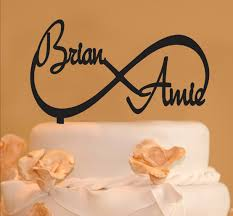 infinity cake topper infinity wedding cake topper infinity design with your names