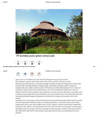designboom green school pt bamboo pure green school bali