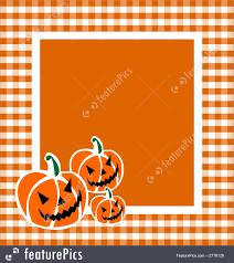 orange background halloween illustration of halloween pumpkin frame