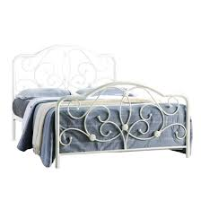 sareer alexis bed frame double bed white metal bed glossy