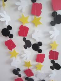 diy mickey mouse garland mickey mouse clubhouse birthday party
