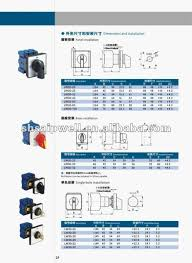 voltmeter rotary switch 16a 20a 25a 32a 63a buy voltmeter rotary