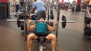Incline Bench Press Grip How To Do The Barbell Incline Bench Press Normal Grip Male