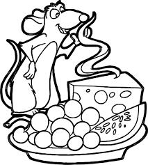 ratatouille cheese grape watermelon coloring page wecoloringpage