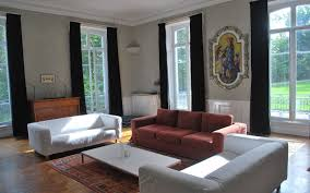 The Living Room Salon The Salon Of Chateau Les Bardons Has A Log Fire Satellite Television