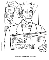 john tyler coloring pages free and printable