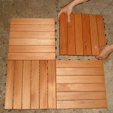 eucalyptus wood interlocking deck tiles