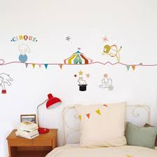 frise cuisine autocollante frise murale autocollante cirque par mimi lou en vynile