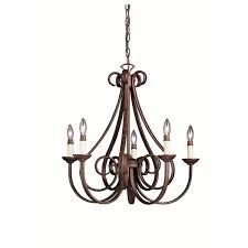 5 Light Bronze Chandelier Kichler Lighting Dover Collection 5 Light Tannery Bronze