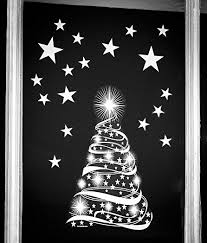 star tree with stars window cling stickers seasonal christmas