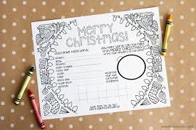 kids christmas activity sheet sweet rose studio