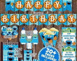 cookie monster table decorations cookie monster etsy