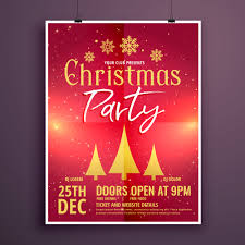 Christmas Party Ticket Christmas Party Flyer Design Template Card Download Free Vector