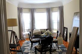 Gray And Tan Living Room by Cup Half Full Linen Curtains