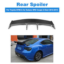 toyota subaru 2015 carbon fiber rear trunk boot spoiler wings for toyota gt86 u0026 for