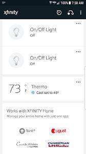 Home Xfinity by Xfinity Home App Thermostats Keeps Resetting To Xfinity