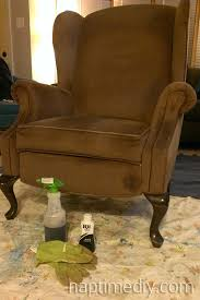 Where To Buy Upholstery Fabric Spray Paint How To Dye A Wingback Chair Naptime Diy