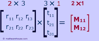matrix multiplication how to multiply two matrices together 1st