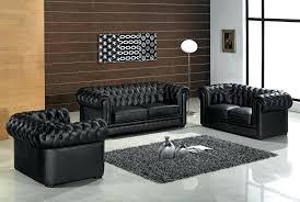 gray furniture set modern black tufted leather living room
